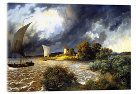 Acrylic print  Upcoming Storm - Ernst Ferdinand Oehme