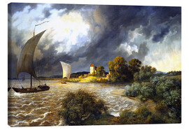 Canvas print  Upcoming Storm - Ernst Ferdinand Oehme