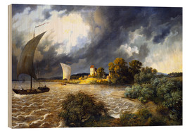 Wood print  Upcoming Storm - Ernst Ferdinand Oehme