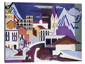 Aluminium print  Davos - Square at the station - Ernst Ludwig Kirchner