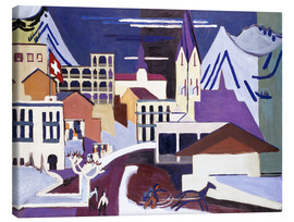 Canvas print  Davos - Square at the station - Ernst Ludwig Kirchner