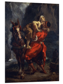 Foam board print  The Good Samaritan - Eugene Delacroix