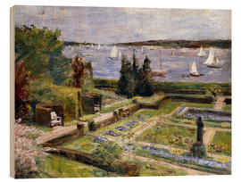 Wood print  The Arnholds' Wannsee garden - Max Liebermann