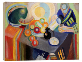 Wood print  Portuguese Woman pouring something - Robert Delaunay
