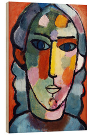 Wood print  Girl's head - Alexej von Jawlensky