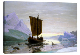 Canvas print  Erik the Red discovered Greenland - Jens Erik Carl Rasmussen