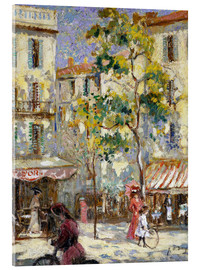 Acrylic glass  Street scene in Paris - Joseph Alfred Terry