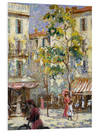 Foam board print  Street scene in Paris - Joseph Alfred Terry