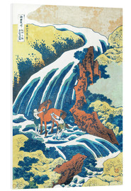 Forex  Two men washing a horse at a waterfall - Katsushika Hokusai