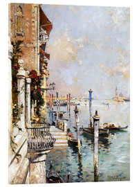 Acrylic print  The Grand Canal, Venice - Franz Richard Unterberger