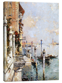 Canvas print  The Grand Canal, Venice - Franz Richard Unterberger