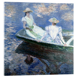 Acrylic glass  girls in a boat - Claude Monet