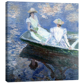 Canvas  girls in a boat - Claude Monet