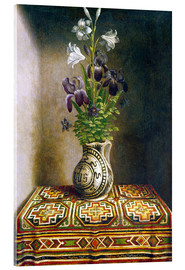 Acrylic print  Still life with flowers - Hans Memling
