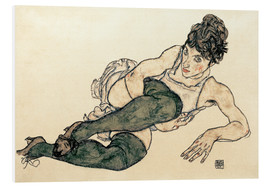 Forex  Reclining Woman with Green Stockings - Egon Schiele