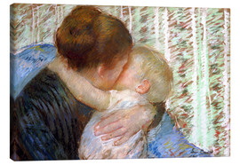 Canvas  The Goodnight Kiss - Mary Stevenson Cassatt