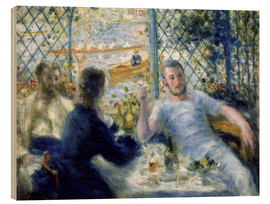Wood print  Lunch in the Fournaise restaurant - Pierre-Auguste Renoir