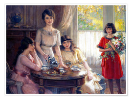 Premium poster  Tea Time. - Albert Lynch