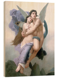 Wood print  Abduction of Psyche - William Adolphe Bouguereau