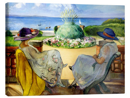 Canvas  Two women on a terrace by the sea - Henri Lebasque