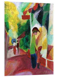Foam board print  Shop window with yellow trees - August Macke