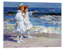 Acrylic print  Girls on the beach - Edward Henry Potthast