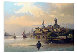 Foam board print  Purchase ships on the Bosporus - Karl Kaufmann