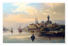 Premium poster Purchase ships on the Bosporus