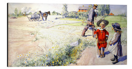 Aluminium print  Esbjorn with a little girl - Carl Larsson