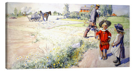 Canvas print  Esbjorn with a little girl - Carl Larsson