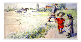 Premium poster  Esbjorn with a little girl - Carl Larsson