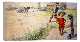 Wood print  Esbjorn with a little girl - Carl Larsson
