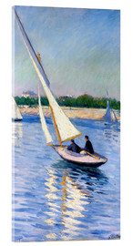 Acrylic glass  Sailboat on the Seine at Argenteuil - Gustave Caillebotte