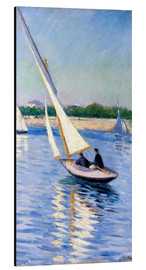 Aluminium print  Sailboat on the Seine at Argenteuil - Gustave Caillebotte