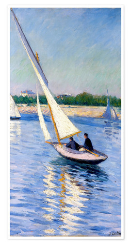 Premium poster Sailboat on the Seine at Argenteuil