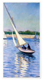 Premium poster  Sailboat on the Seine at Argenteuil - Gustave Caillebotte