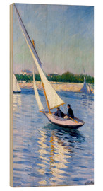 Wood print  Sailboat on the Seine at Argenteuil - Gustave Caillebotte