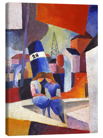 Canvas  Children at the docks, Duisburg - August Macke