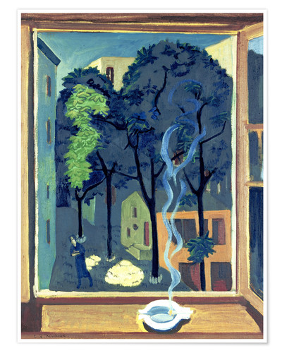 Ernst Ludwig Kirchner Yard with sunbeams Poster