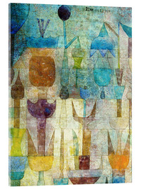 Acrylic print  Plants early in the morning - Paul Klee