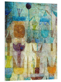 Foam board print  Plants early in the morning - Paul Klee