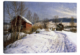 Canvas print  Winterlandschaft bei Lillehammer. 1922 - Peder Mørk Mønsted