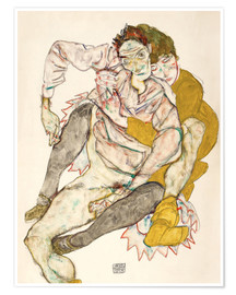 Premium poster Seated Couple (Egon Schiele and Edith)