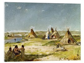 Acrylic print  Camp of the Indians in Wyoming - Frank Buchser