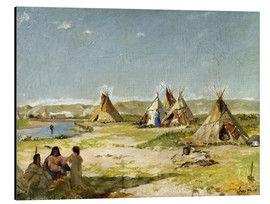 Aluminium print  Camp of the Indians in Wyoming - Frank Buchser