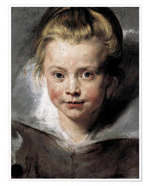 Premium poster  Head of a child (Clara-Serena Rubens) - Peter Paul Rubens