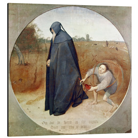 Alu-Dibond  The Misanthrope (The perfidy of the world) - Pieter Brueghel d.Ä.