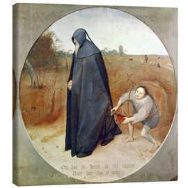 Canvas print  The Misanthrope (The perfidy of the world) - Pieter Brueghel d.Ä.