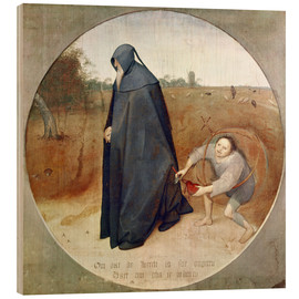 Wood print  The Misanthrope (The perfidy of the world) - Pieter Brueghel d.Ä.