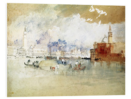 Foam board print  Venice, seen from the lagoon - Joseph Mallord William Turner